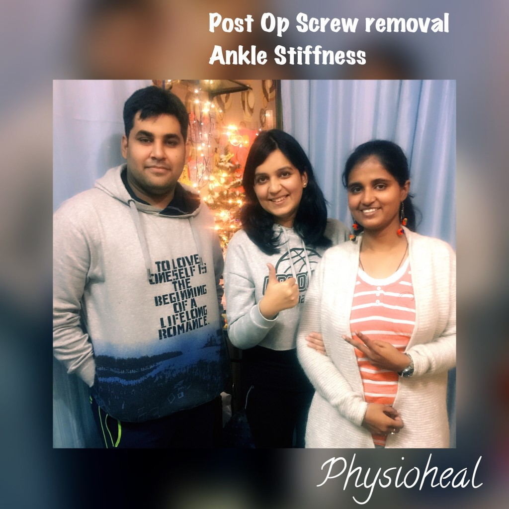 Post Op -Screw Removal Ankle Stiffness – Patient testimony !