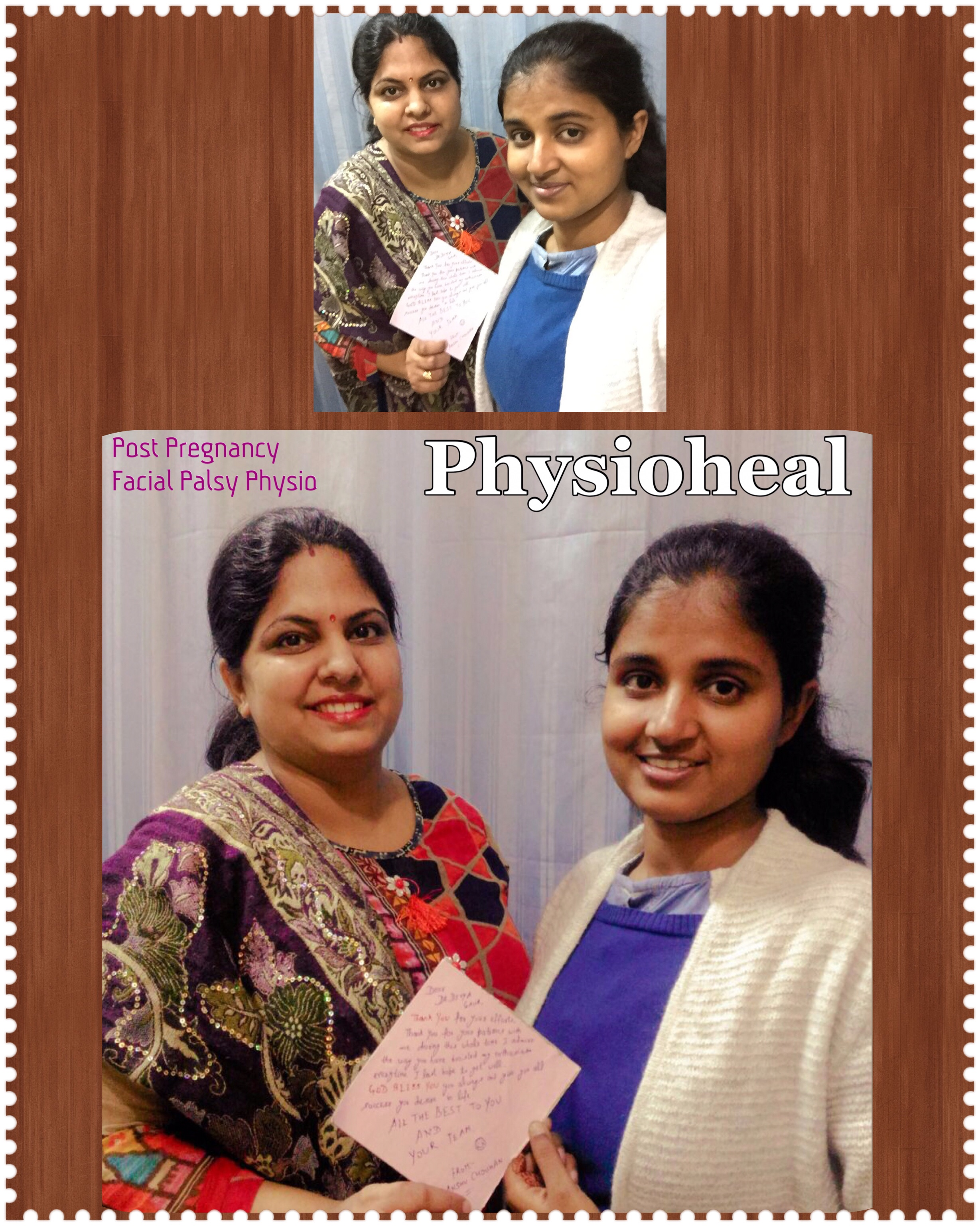 Post Pregnancy Facial Palsy Patient with her doctor