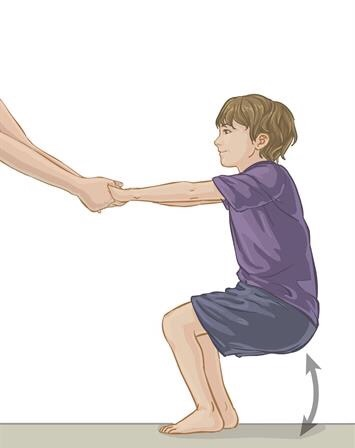 A child Doing exercise