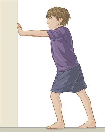Child doing exercises